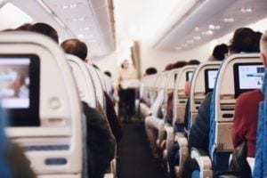 Business Travel People on a Plane